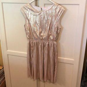 J.Crew Crewcuts Gold Shimmer Dress Size 14